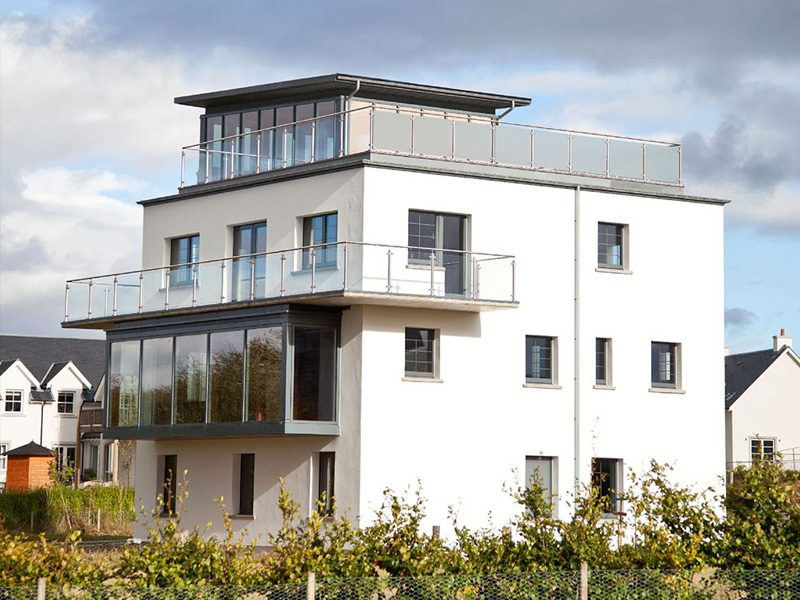 Installation of Sto Therm Classic M Insulated Render system to converted WW2 Control Tower