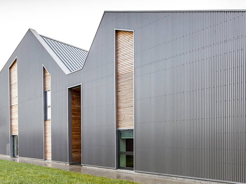 University of Edinburgh, EDSCCU - installation of Siberian Larch Timber Cladding